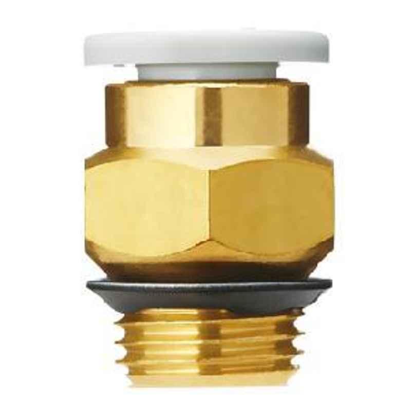 SMC 10 mm Brass Male Connector KQ2H10-U02A