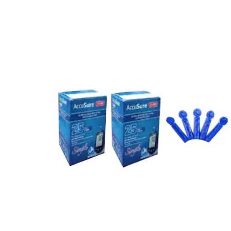AccuSure Simple Glucometer 50 Pcs Test Strips