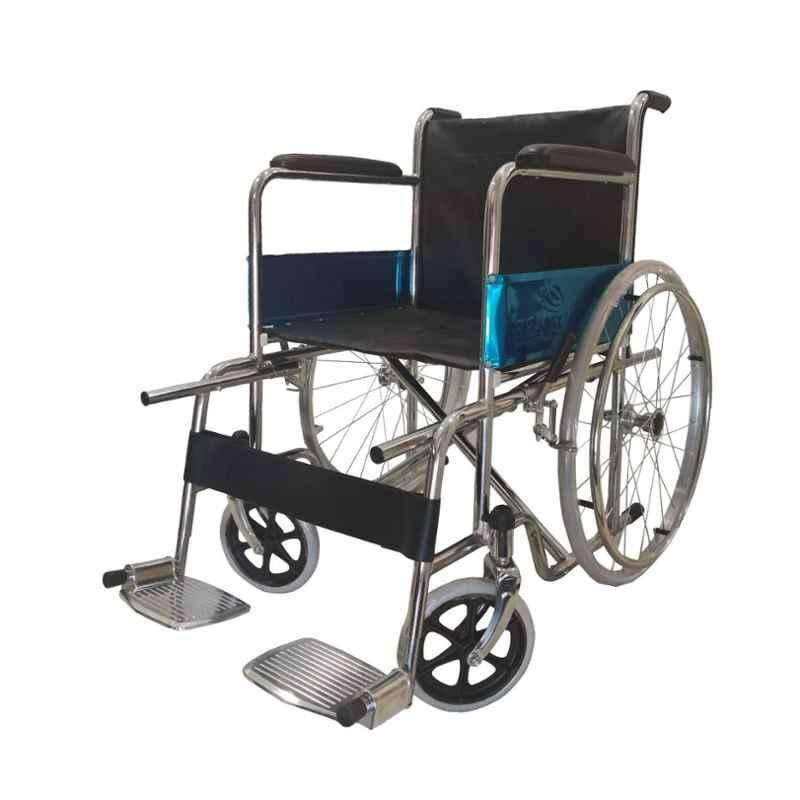 Easycare Foldable Steel Wheelchair, Weighing Capacity: 100 kg, EC809LI