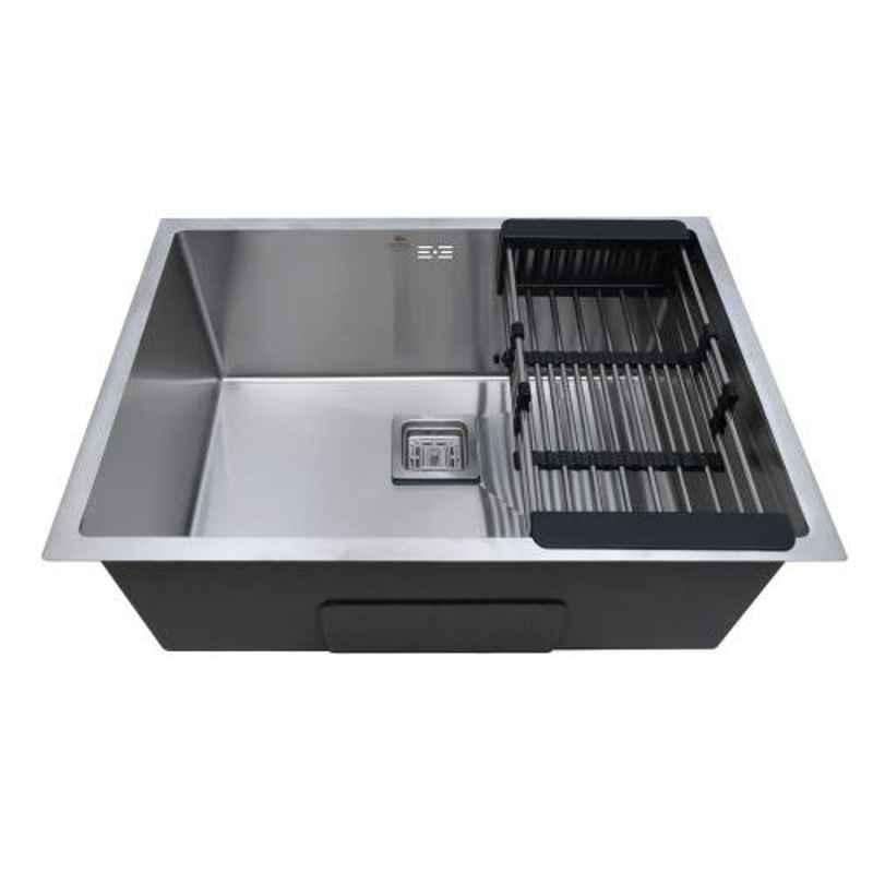 Crocodile 27x20x10 inch Stainless Steel Satin Finish Silver Single Bowl Kitchen Sink