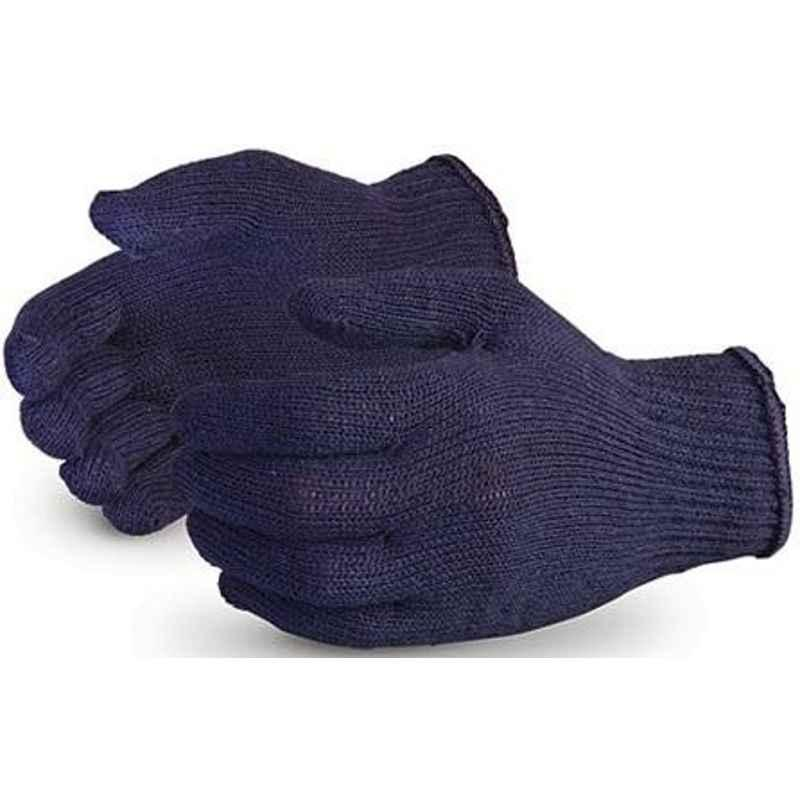 RK 50 g Blue Cotton Knitted Hand Gloves (Pack of 50)