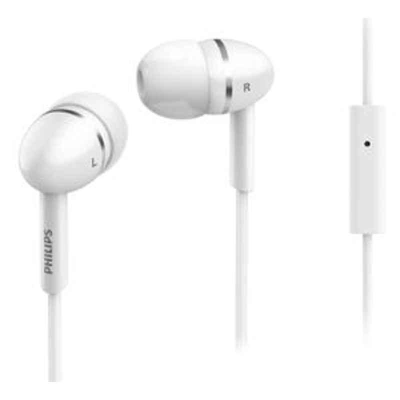 Philips White Headphone With Mic SHE1455WT