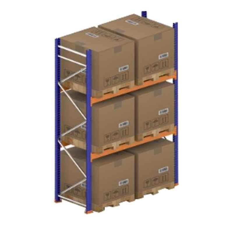 Godrej Ground Plus 2 Layers Steel Selective Pallet Racking, Max Load Capacity: 4000kg, Main Unit: 3500x2300x1000mm (HxWxD)