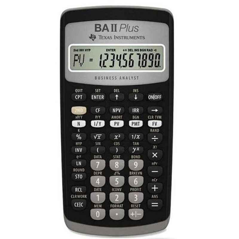Texas Instruments BA-II Plus Advance 10 Digit Financial Calculator
