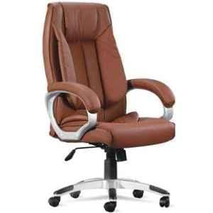 Mezonite High Back Leatherette Brown Office Chair
