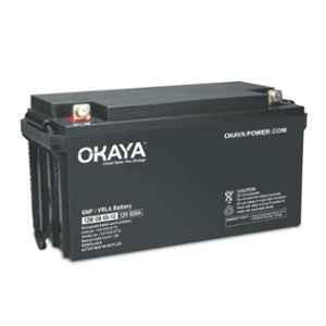 Okaya 12V 70Ah Rechargeable SMF or VRLA Battery, OB-70-12