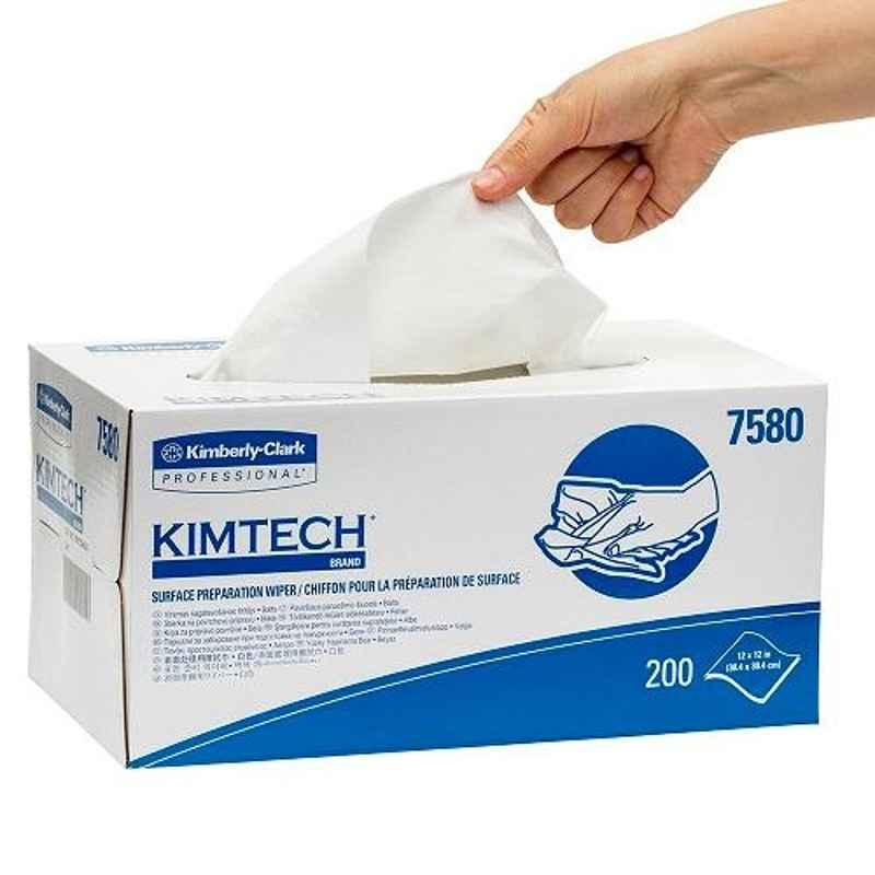 Kimtech Surface 200 Pcs White Preparation Wiper Box, 7580 (Pack of 4)