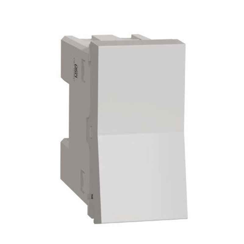 Schneider Unica Pure 10A 1 Module Polar White Intermediate Switch, UNS10SW1M_WE (Pack of 10)