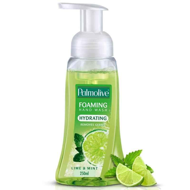 Palmolive 250ml Lime & Mint Hydrating Foaming Liquid Hand Wash (Pack of 4)