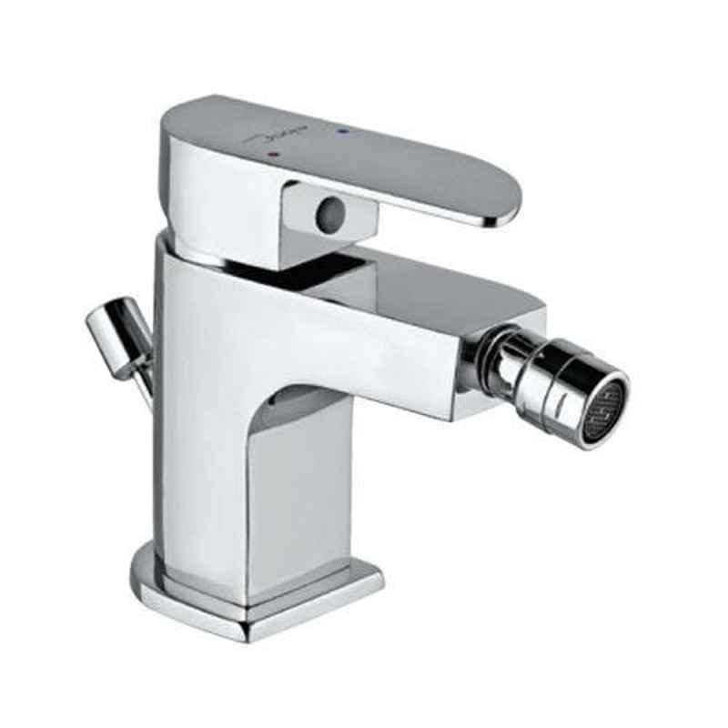 Jaquar Alive Stainless Steel Single Lever 1-Hole Bidet Mixer with 375mm Braided Hose, ALI-SSF-85213B