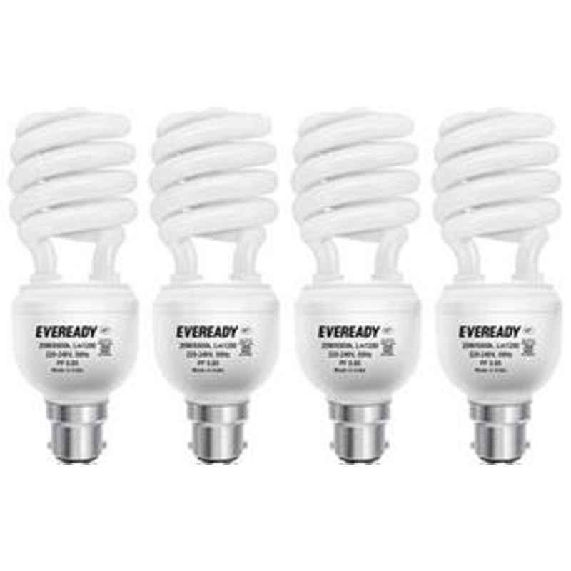 Eveready 23W Spiral 4pcs HPF White CFL Bulb