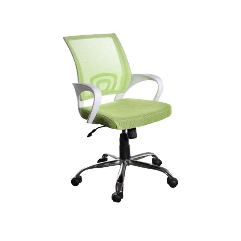 Regent Voom Net & Metal White & Green Chair with Modle Handle (Pack of 2)