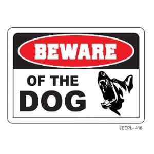 Jeepl Beware of the Dog Sticker, jeepl-416