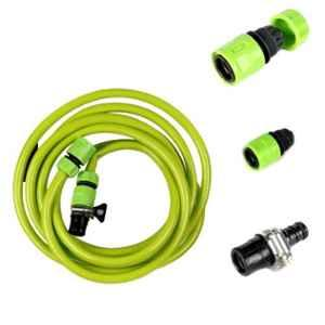 AllExtreme EXPWHG1 5m PVC Green Pressure Washer Hose with O Ring Clamp