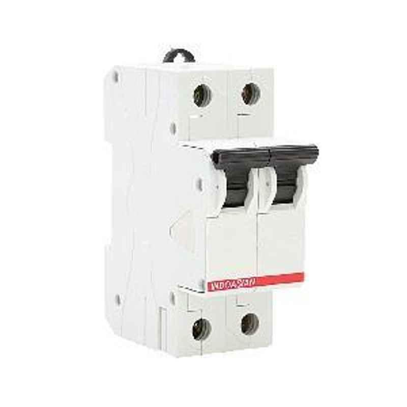 Indoasian 10 A Double Pole C Curve Optipro Miniature Circuit Breaker