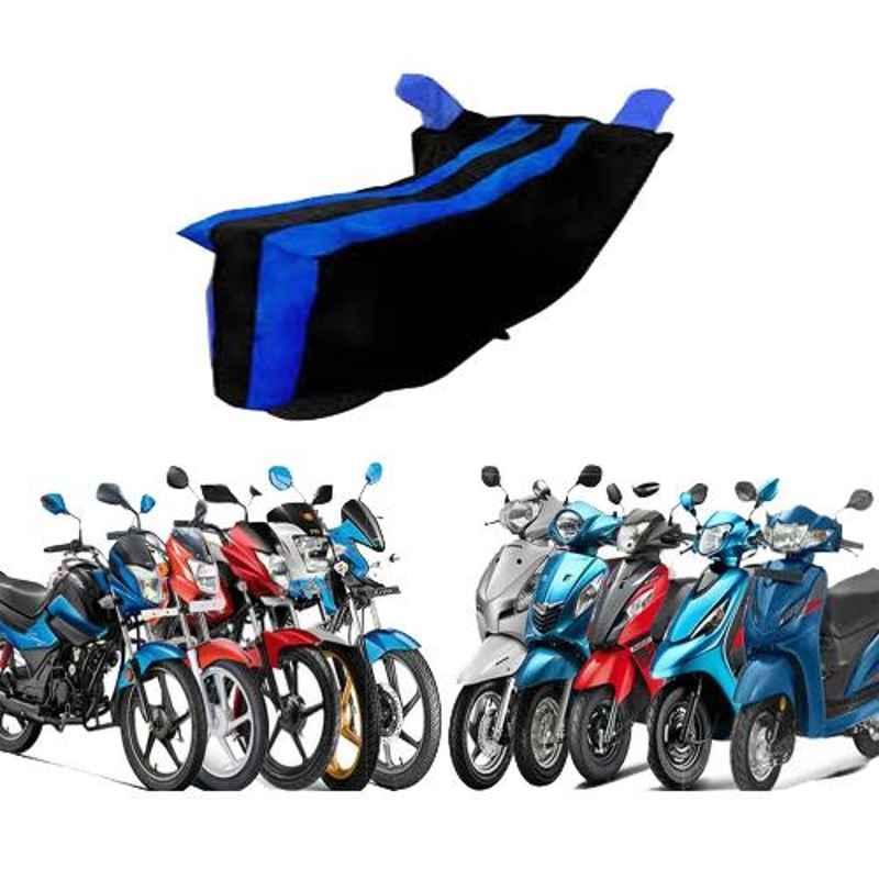 Zeeko Black & Blue Bike Body Cover for Triumph Tiger 800 XR