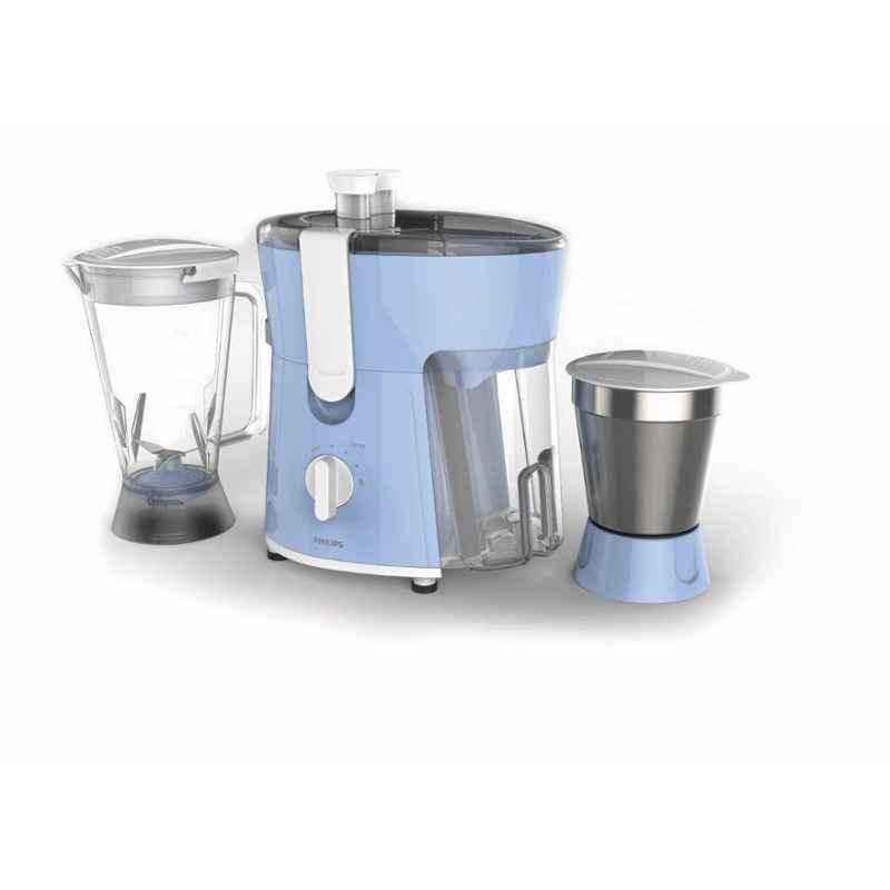 Philips Daily Collection 600W Blue Juicer Mixer Grinder with 2 Jars, HL7575/00