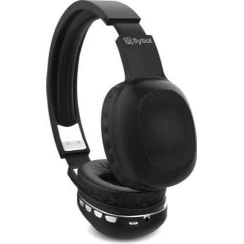 Flybot Alpha 100 Black & Silver on-the-Ear Wireless Headset