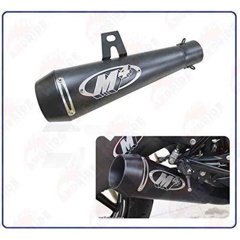 RA Accessories Black M4 with Mesh Silencer Exhaust for Honda VT 1300 C
