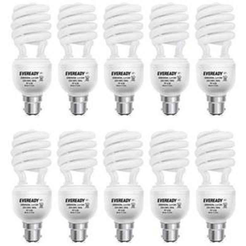 Eveready 20W Spiral 10Pcs HPF White CFL Bulb