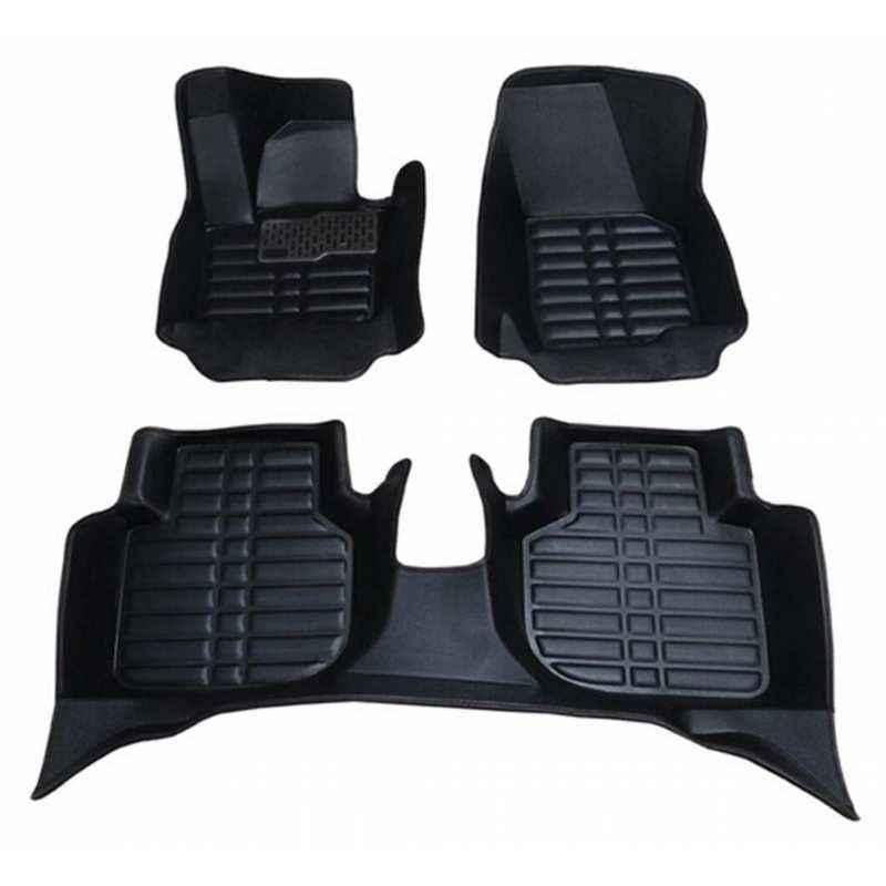 Oscar 5D Black Foot Mat For Volkswagen Vento Set