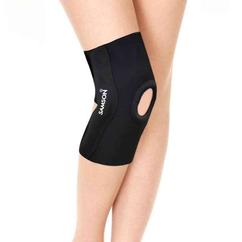 Samson NE-0603 Open Patella & Hinged Elastic Knee Support, Size: XL