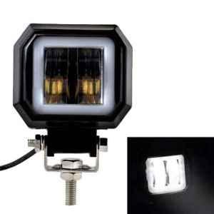 AllExtreme EX3IHRW 2.5 inch 20W White Square Fog Light with Halo Angel Eye Ring