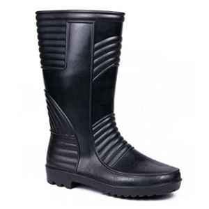 Hillson Welsafe Plain Toe Black Gumboots, Size: 8