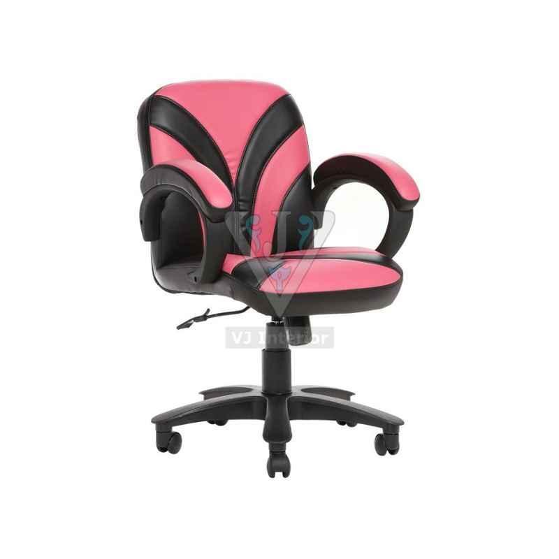 VJ Interior Pink And Black The Fuente Lb Workstation Chair, VJ-519