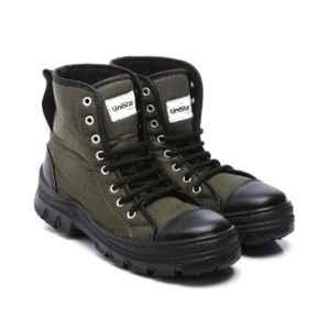 Unistar Leather PVC Sole Olive Green Safety Boots, S.Power_Olivegreen, Size: 9