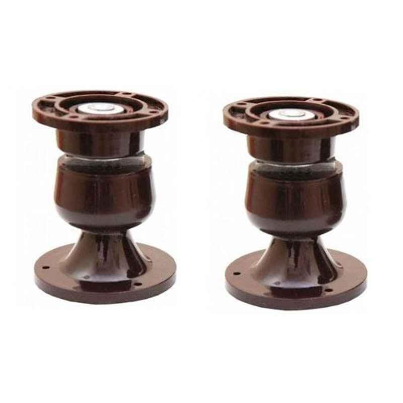 Nixnine Plastic Brown Magnetic Door Stopper, NO-5_BRN_2PS_A (Pack of 2)