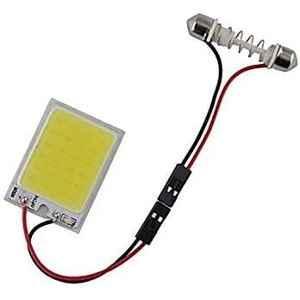 AOW 24 Chip COB LED Super Bright Car Roof Light/Doom Light For Chevrolet Beat (White)