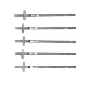 Lovely Kristeel 6 Inch Stainless Steel Pocket Clip Scale/Ruler (Pack of 5)