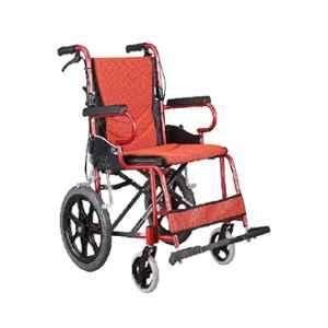 Karma KM-2500 890x600x860mm Rose Red Aluminium Foldable Wheelchair