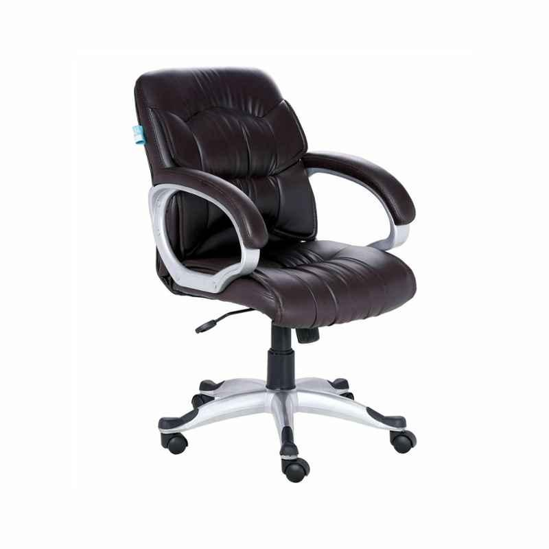 VJ Interior Brown Medium Back Chair, VJ-722