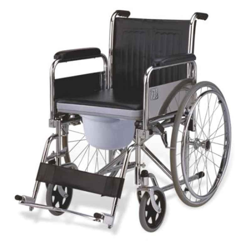 Easycare 100kg High Configuration Commode Wheelchair with Standard Castor, EC681