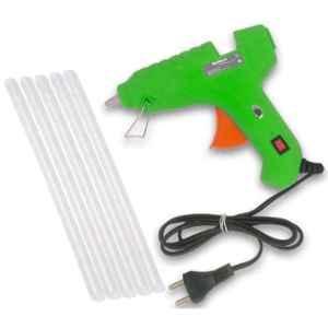 Walkers 40W Green Hot High Temperature Gum Glue Gun with 5 Pcs Hot Melt Glue Stick Set, WK0002