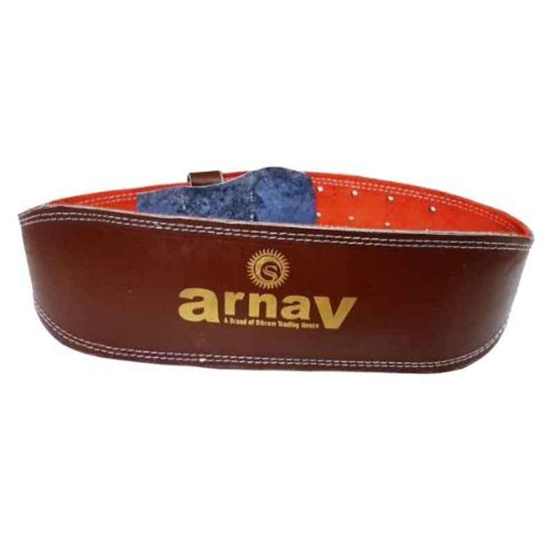 Arnav 6 inch Black Weight Lifting Gym Belt with Back Support, Steel Roller Buckle & Abdomen Support, Size: XL