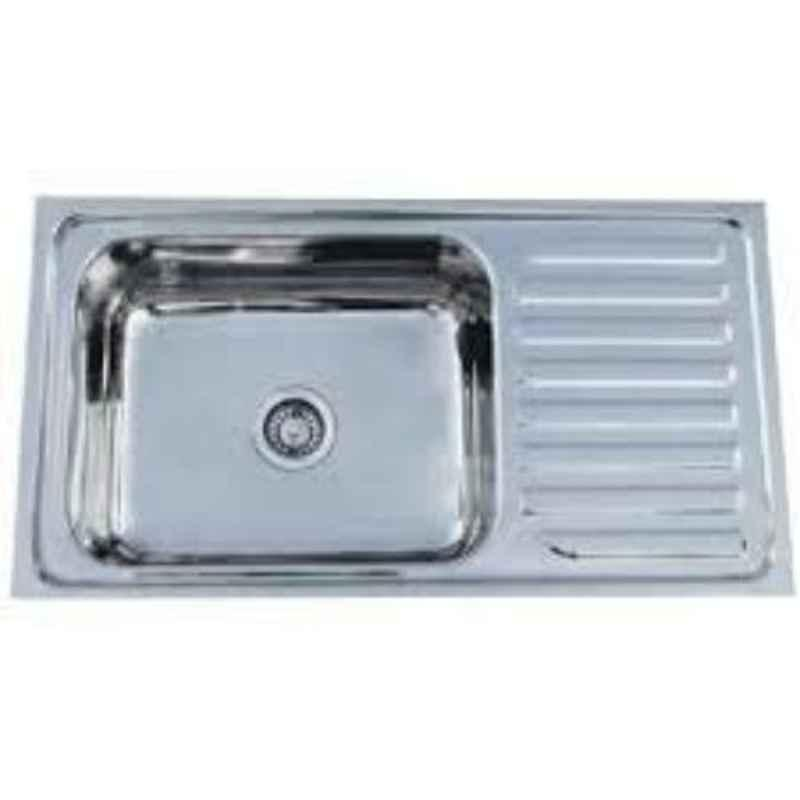 Crocodile 36x20x8 inch Single Bowl Stainless Steel Kitchen Sink with Drainboard