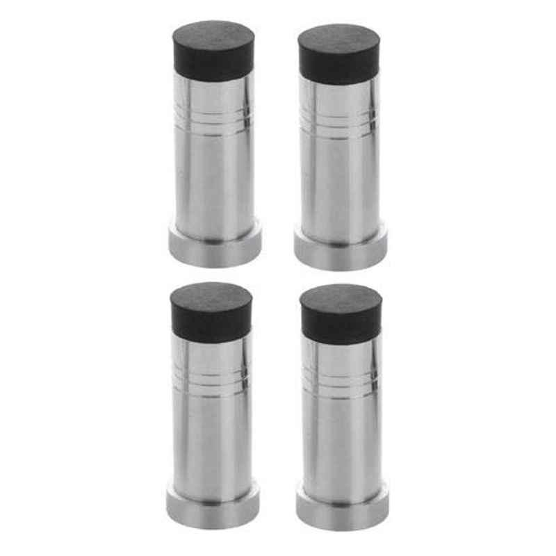Nixnine Stainless Steel Back Silencer Door Stopper with Rubber Pad, SS_HVY_A-614_4PS (Pack of 4)