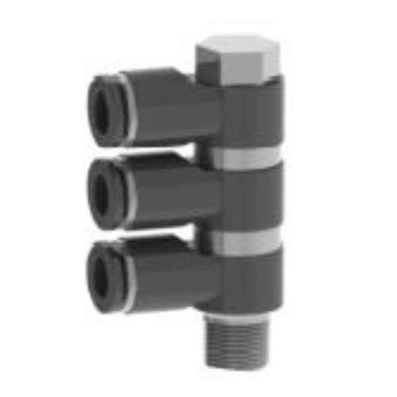 Spac 12mm 3 Thread EPH3X Equal Elbow 3X Connector
