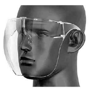 I Kall Polycarbonate Clear Anti Fog Face Shield with Frame