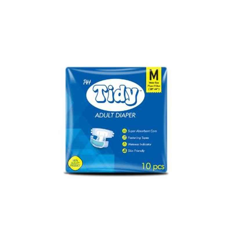 Tidy 30 Pcs 71-112cm Medium Adult Diapers, TAD-M-3 (Pack of 3)
