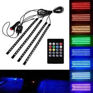 JBRIDERZ 18W 9 LED Multicolor Decorative Floor Strip Light Kit with IR Remote Control