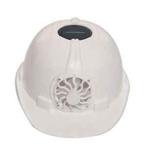 Darit White ABS Ratchet Textile Safety Helmet with Foam Sweatband, ES-215