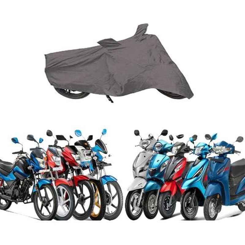 Zeeko Grey Bike Body Cover for Honda Dream Yuga