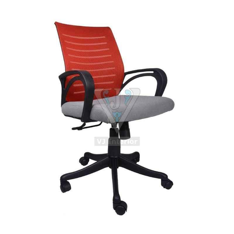 VJ Interior 20 inch 14 kg The Granate Grey And Maroon Task Chair, VJ-0158