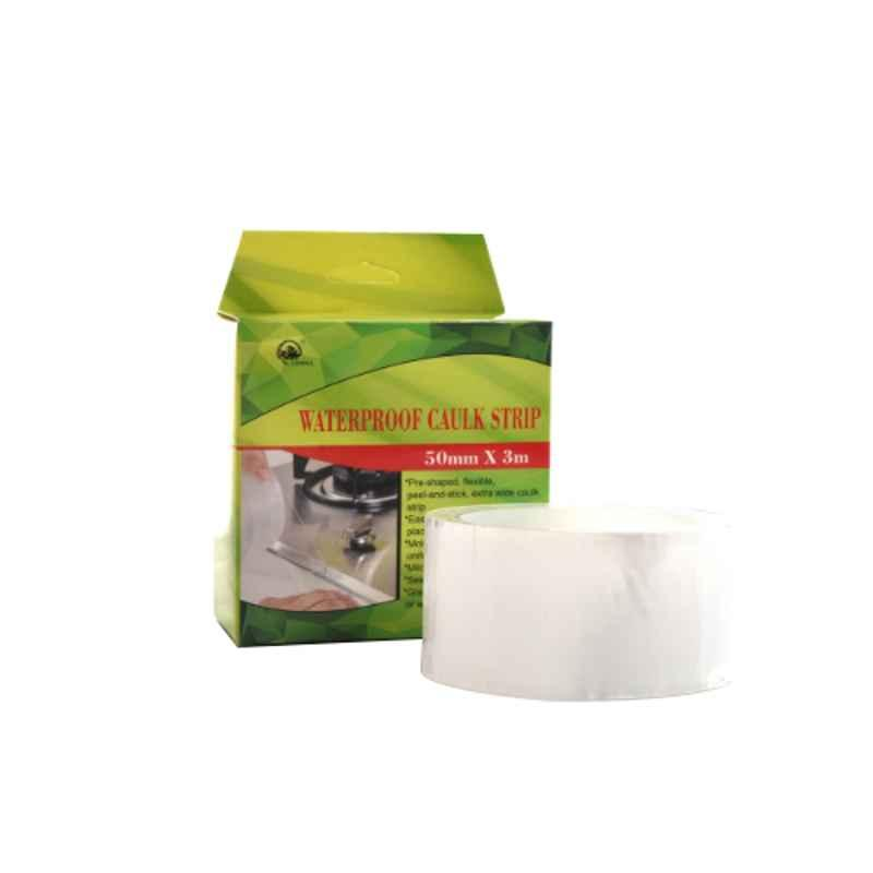 Darit ES-36 5cm PVC Self Adhesive Bath & Wall Sealing Strip Tape, Length: 3m (Pack of 2)