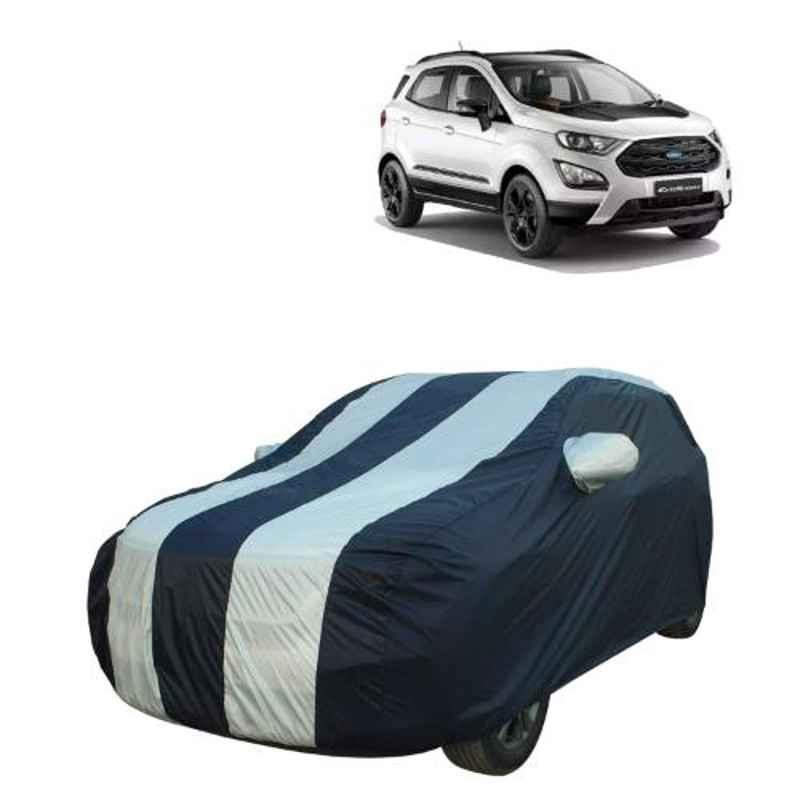 AllExtreme FE7005 Blue & Silver Custom Fit Car Body Cover for Ford Eco Sport