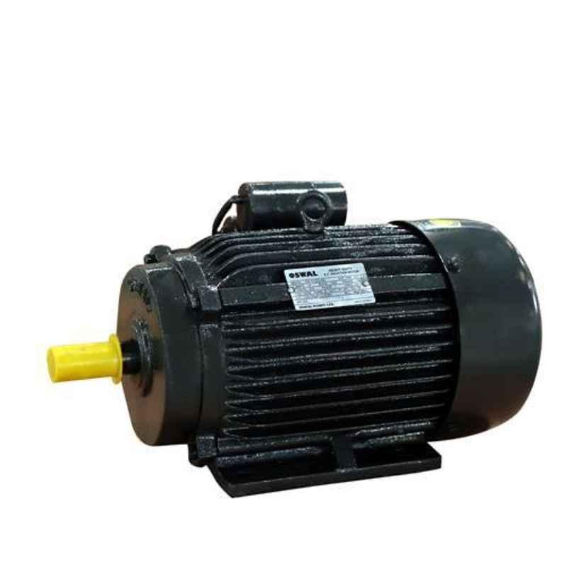 Oswal 3HP 1440rpm Single Phase Induction Electric Motor, ON-11-(CI)-1PH